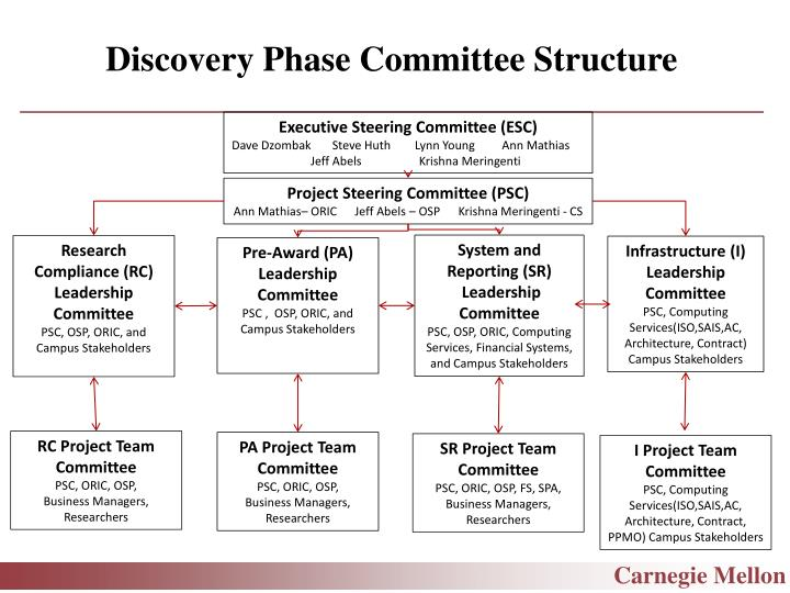 Discovery Phase Committee Structure