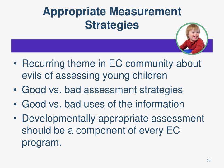 Appropriate Measurement Strategies