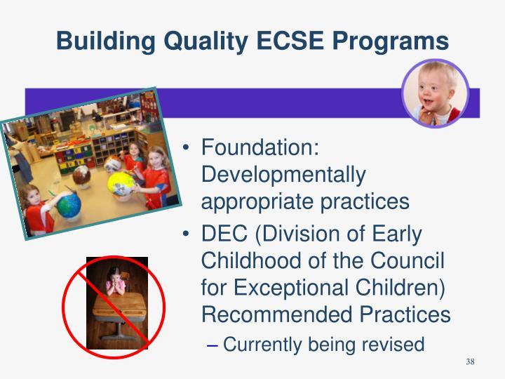 Building Quality ECSE Programs