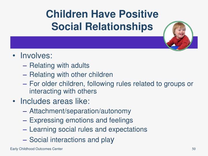 Children Have Positive
