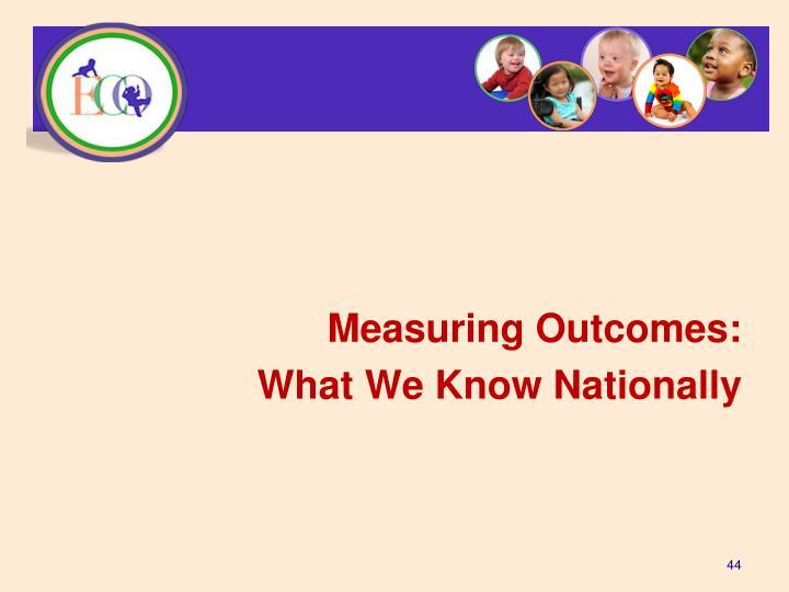 Measuring Outcomes: