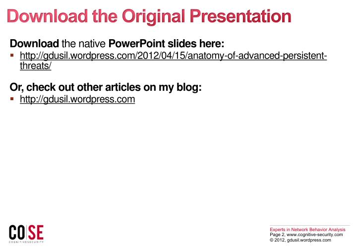 Download the Original Presentation