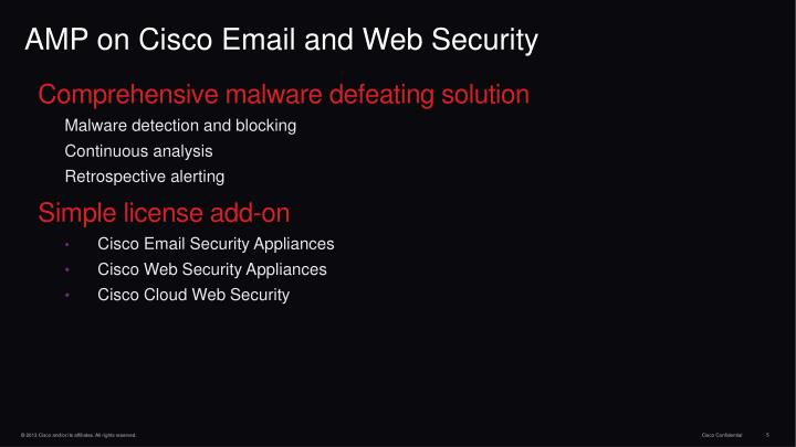 AMP on Cisco Email and Web Security