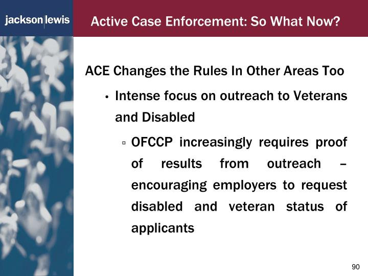 Active Case Enforcement: So What Now?