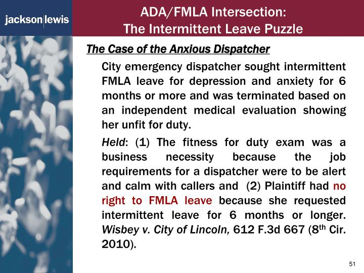 ADA/FMLA Intersection:
