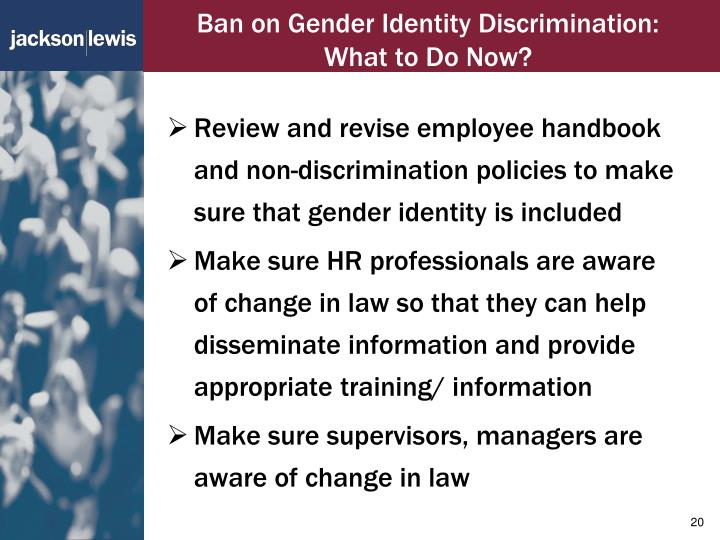 Ban on Gender Identity Discrimination: