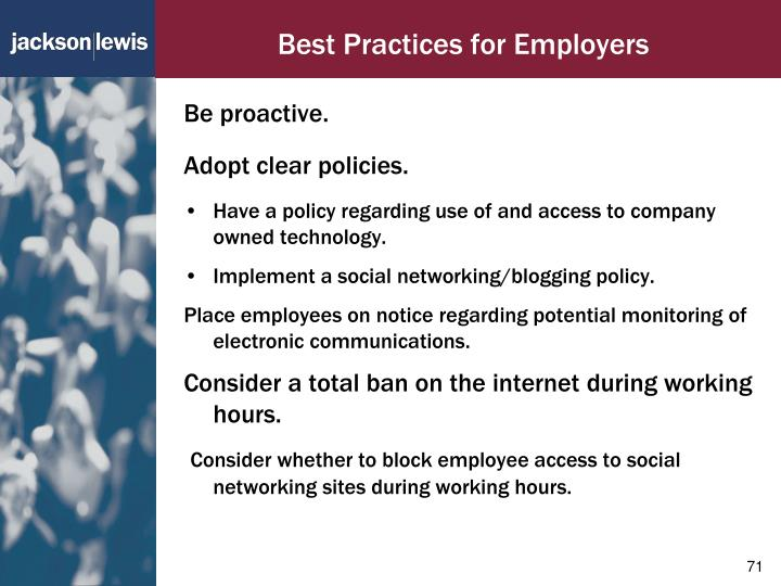 Best Practices for Employers