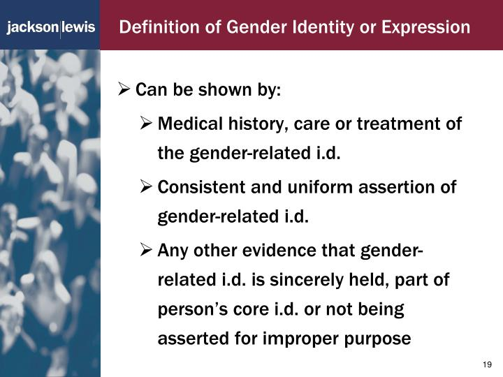 Definition of Gender Identity or Expression