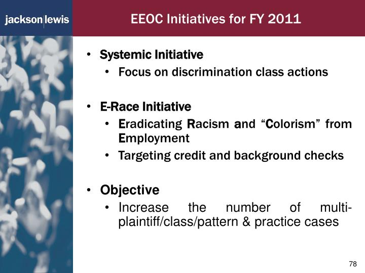EEOC Initiatives for FY 2011