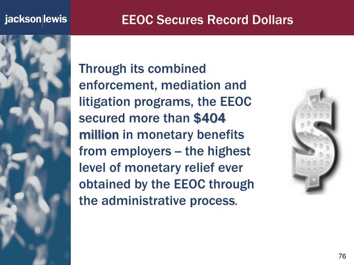 EEOC Secures Record Dollars