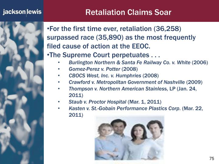 Retaliation Claims Soar