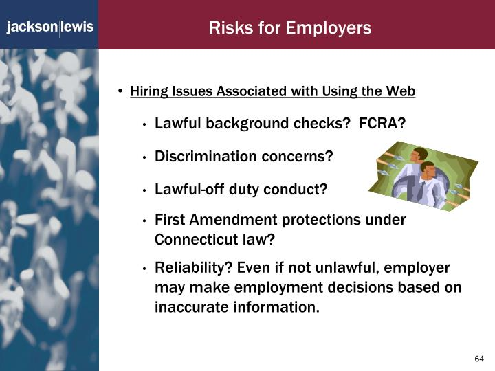 Risks for Employers