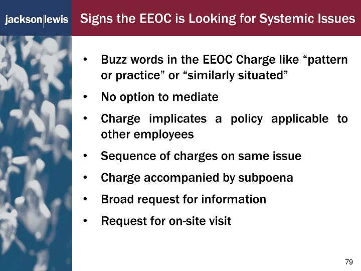 Signs the EEOC is Looking for Systemic Issues