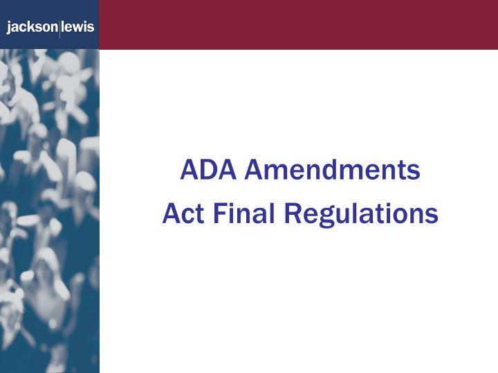 ADA Amendments