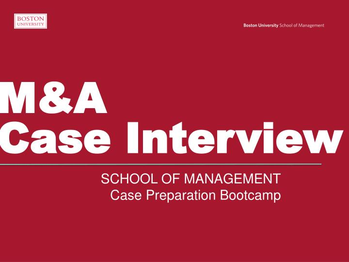 M a case interview