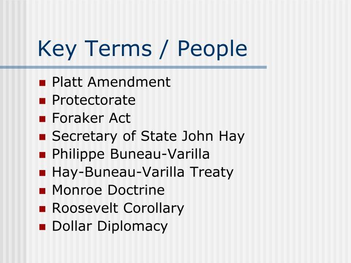 Key Terms / People