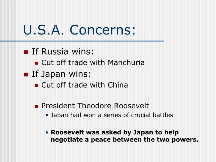 U.S.A. Concerns: