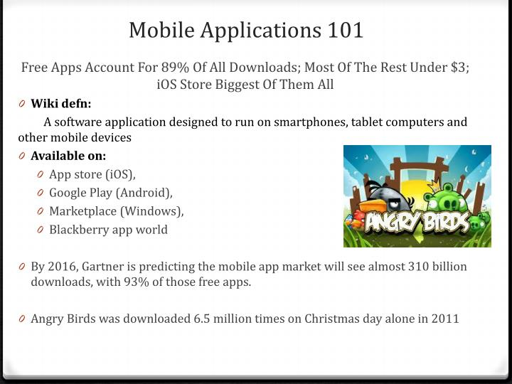 Mobile Applications 101