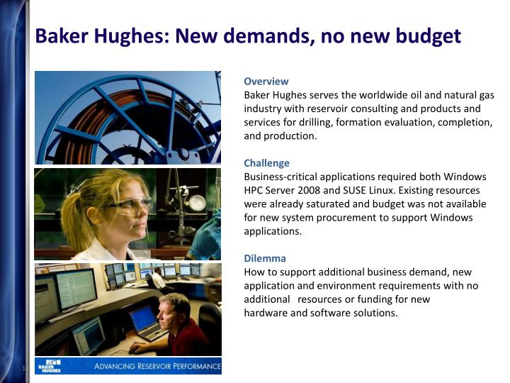 Baker Hughes: New demands, no new budget
