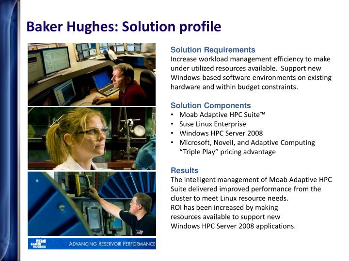 Baker Hughes: Solution profile