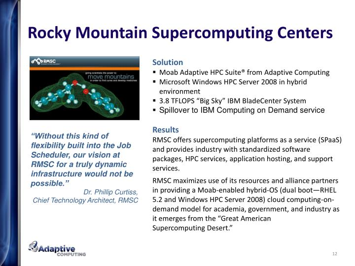 Rocky Mountain Supercomputing Centers