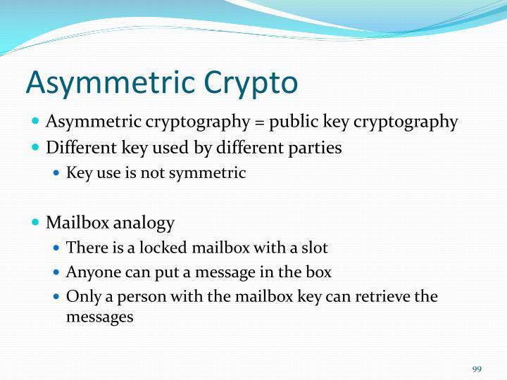 Asymmetric Crypto