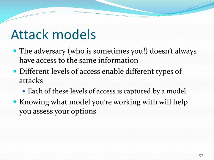 Attack models