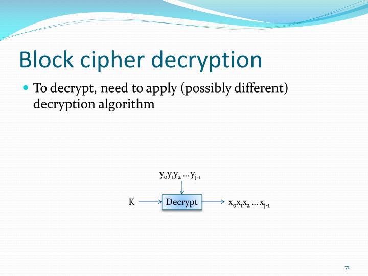 Block cipher decryption