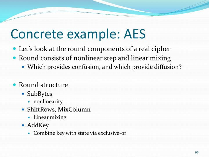 Concrete example: AES