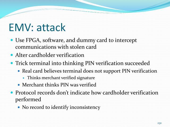 EMV: attack