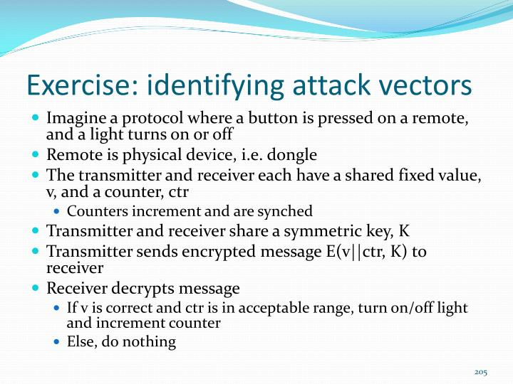 Exercise: identifying attack vectors
