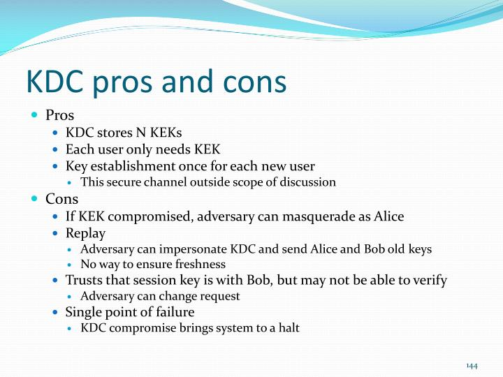 KDC pros and cons