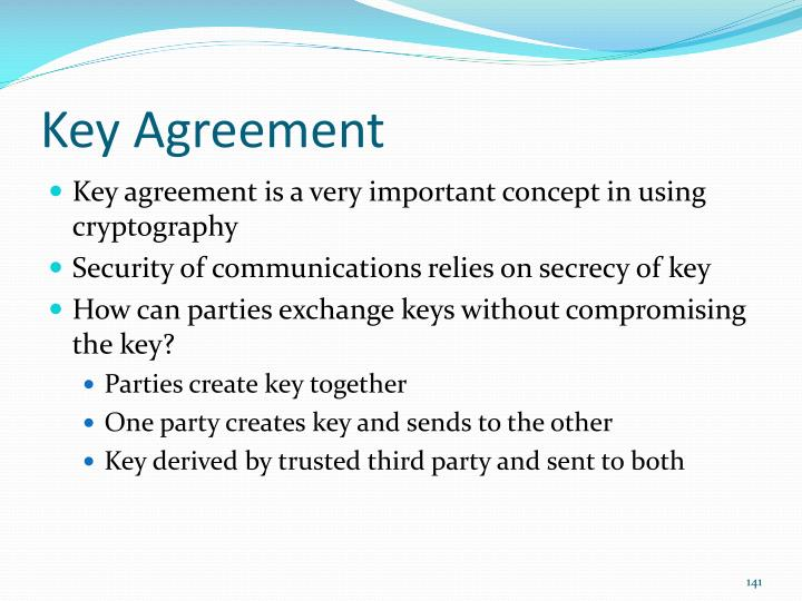 Key Agreement