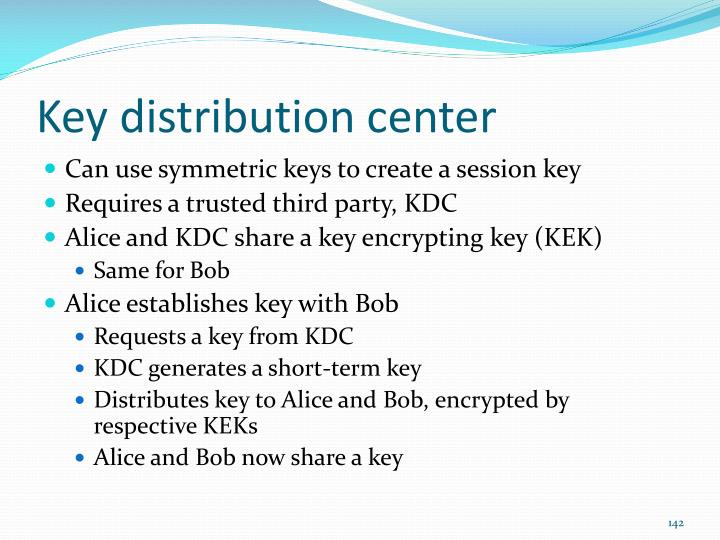 Key distribution center