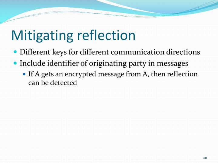 Mitigating reflection