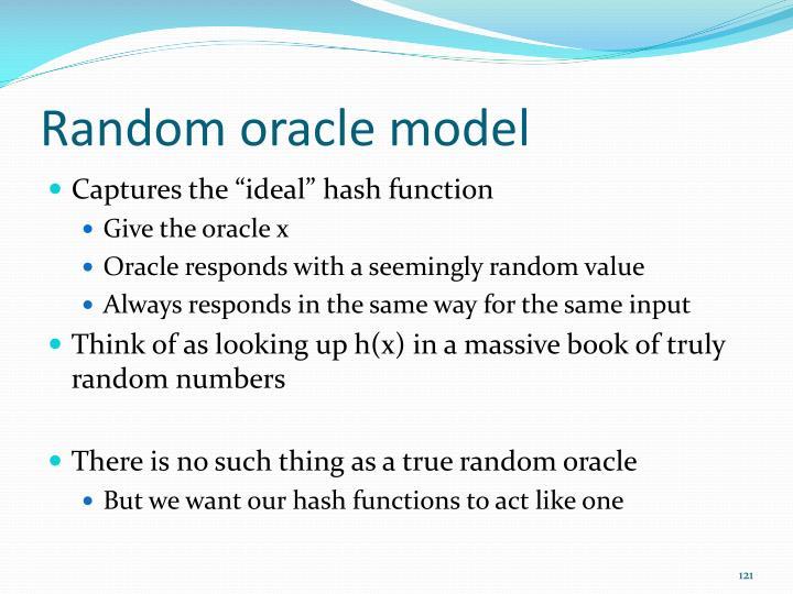 Random oracle model