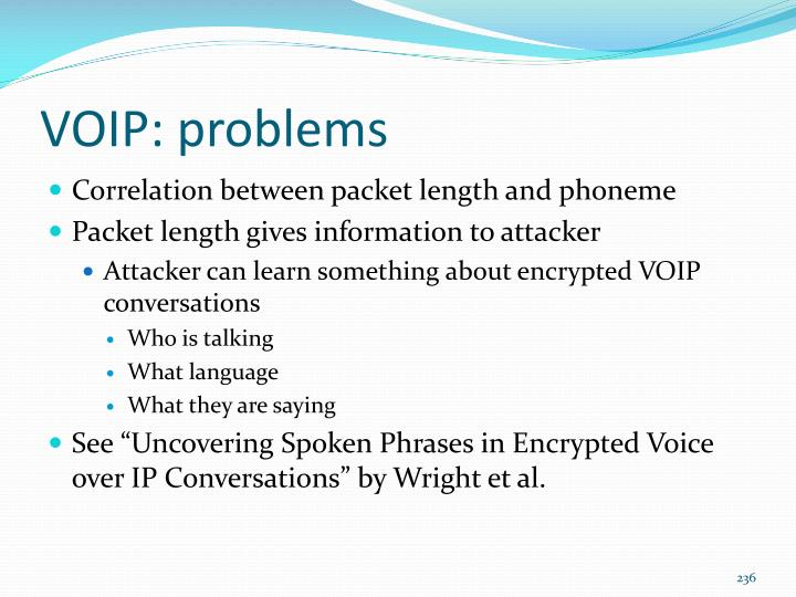 VOIP: problems