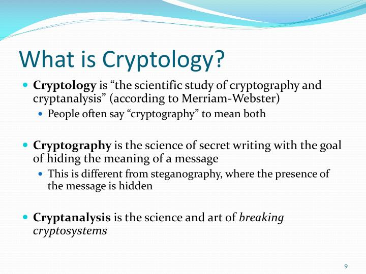 What is Cryptology?