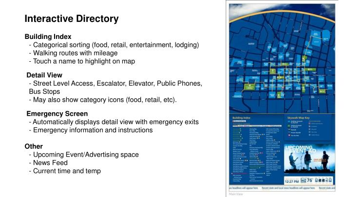 Interactive Directory