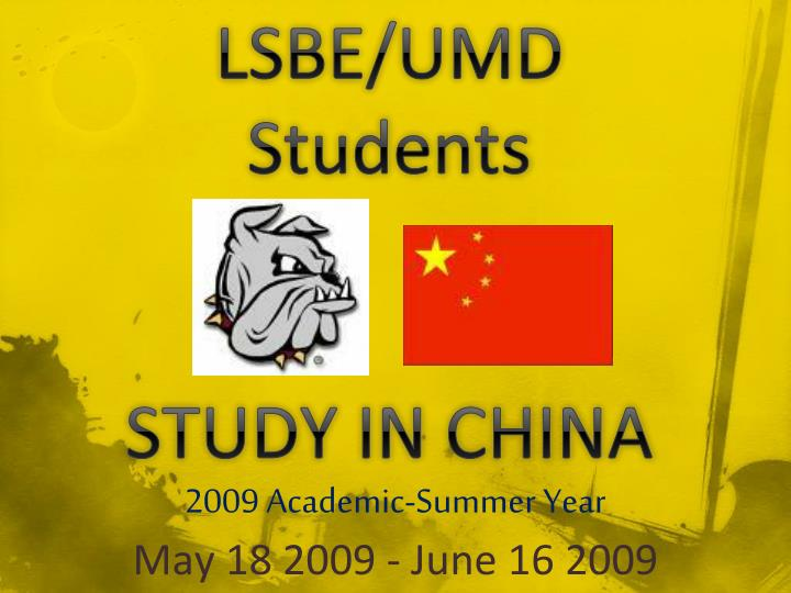 Lsbe umd students study in china