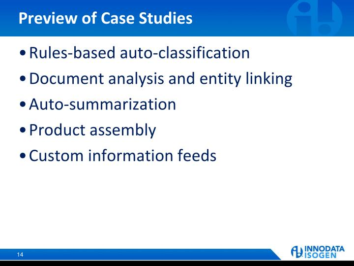 Preview of Case Studies