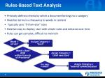 rules based text analysis