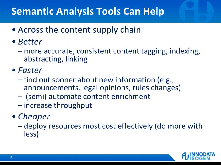 Semantic Analysis Tools Can Help