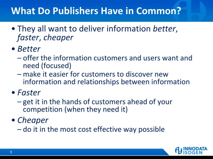 What Do Publishers Have in Common?