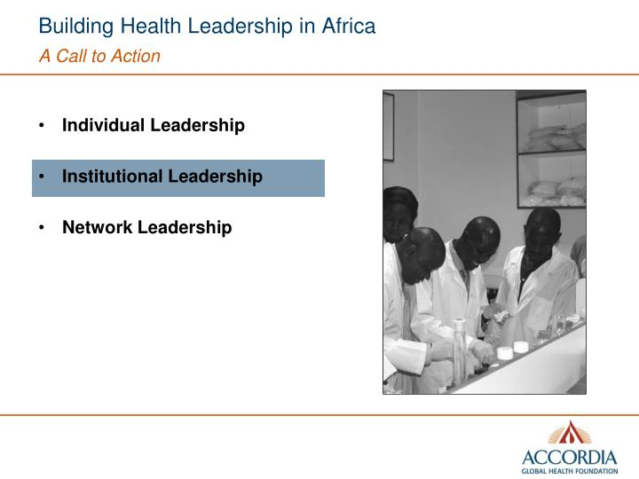 Building Health Leadership in Africa