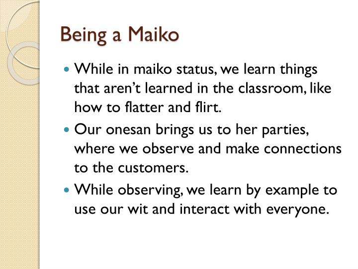 Being a Maiko