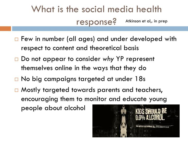 What is the social media health response?