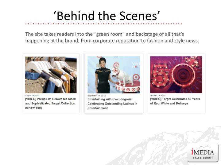 'Behind the Scenes'