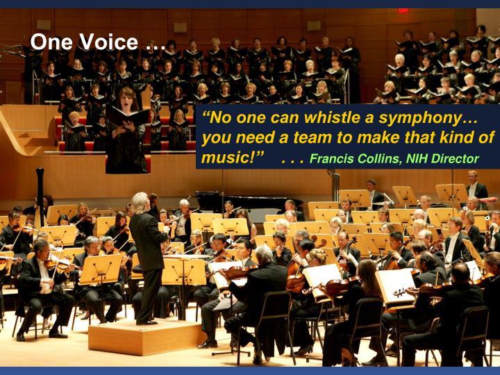 One Voice …