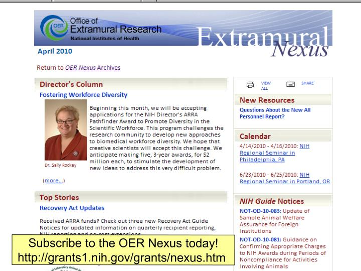 Subscribe to the OER Nexus today!